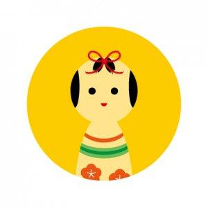 こけしちゃん/シール5枚セット