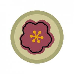 花札のお花/シール5枚セット