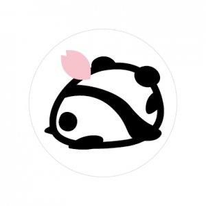 桜餅パンダ/シール5枚セット