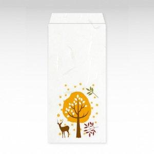 鹿と木/お札用ぽち袋(大)3枚【和紙製】『京 風物詩』