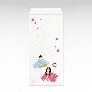 ひなまつり(ひな祭り)/お札用ぽち袋(大)3枚【和紙製】『京 風物詩』