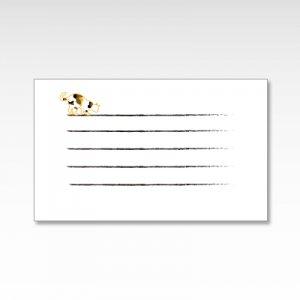 三毛猫(みけ猫好奇心)/メッセージカード 10枚