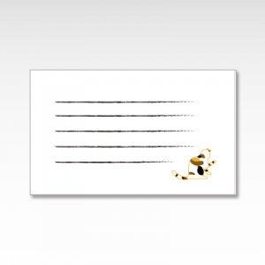 三毛猫(みけ猫お手)/メッセージカード 10枚