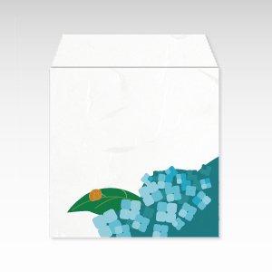 6月 紫陽花(あじさい)/コイン(硬貨)用ぽち袋(小)5枚【和紙製】『花暦シリーズ』