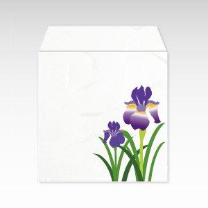5月 菖蒲(しょうぶ)/コイン(硬貨)用ぽち袋(小)5枚【和紙製】『花暦シリーズ』