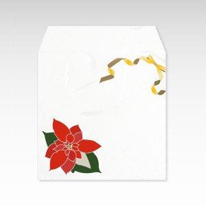 12月 ポインセチア(猩猩木)/コイン(硬貨)用ぽち袋(小)5枚【和紙製】『花暦シリーズ』