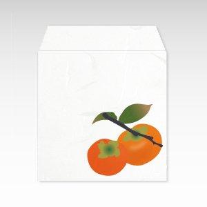 11月 柿(カキ)/コイン(硬貨)用ぽち袋(小)5枚【和紙製】『花暦シリーズ』