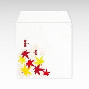 紅葉とトンボ(紅葉と蜻蛉)/コイン(硬貨)用ぽち袋(小)5枚【和紙製】『花暦シリーズ』
