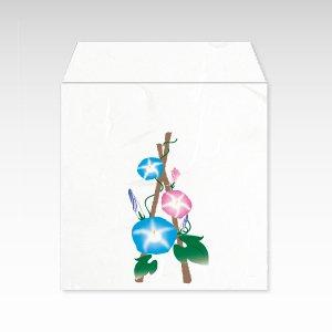 8月 朝顔(アサガオ)/コイン(硬貨)用ぽち袋(小)5枚【和紙製】『花暦シリーズ』
