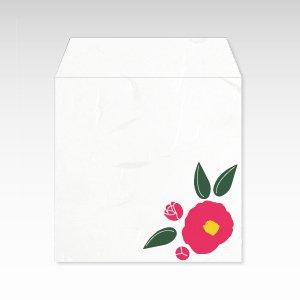 1月 赤椿(ツバキ)/コイン(硬貨)用ぽち袋(小)5枚【和紙製】『花暦シリーズ』