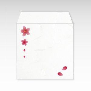 3月 桃/コイン(硬貨)用ぽち袋(小)5枚【和紙製】『花暦シリーズ』