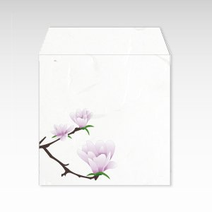 4月 木蓮(モクレン)/コイン(硬貨)用ぽち袋(小)5枚【和紙製】『花暦シリーズ』