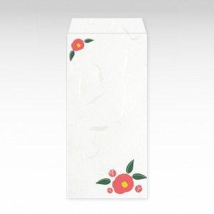 1月 赤椿(ツバキ)/お札用ぽち袋(大)3枚【和紙製】『花暦シリーズ』