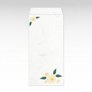 1月 白椿(ツバキ)/お札用ぽち袋(大)3枚【和紙製】『花暦シリーズ』