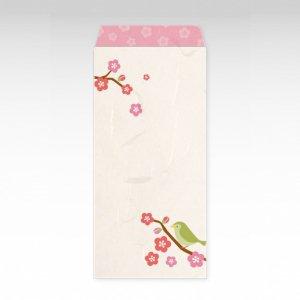 梅うぐいす(梅鶯)/お札用ぽち袋(大)3枚【和紙製】『京 風物詩』