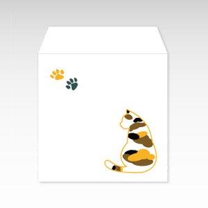三毛猫(みけ猫)/コイン(硬貨)用ぽち袋(小)5枚