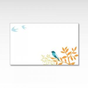 青い鳥/メッセージカード 10枚
