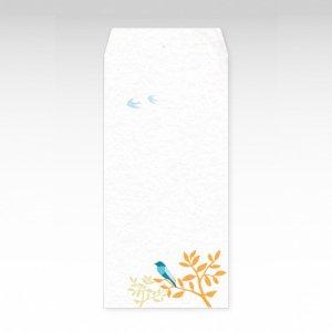 青い鳥/お札用ぽち袋(大)3枚【和紙製】