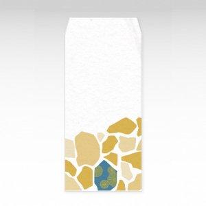 石畳 青/お札用ぽち袋(大)3枚【和紙製】