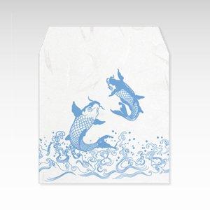 鯉しぶき(鯉飛沫)/コイン(硬貨)用ぽち袋(小)5枚【和紙製】