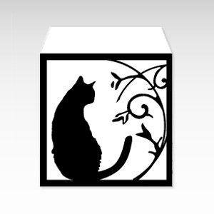 モノクロ猫/コイン(硬貨)用ぽち袋(小)5枚