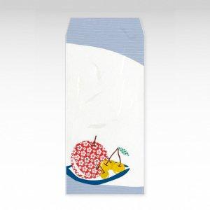 りんごとさくらんぼ(リンゴ・サクランボ・林檎)/お札用ぽち袋(大)3枚【和紙製】