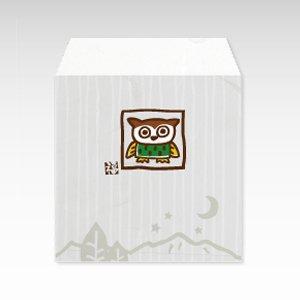 もりのふくろう(フクロウ・梟)/コイン(硬貨)用ぽち袋(小)5枚【和紙製】