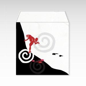 蛙とおたまじゃくし(カエル・かえる)/コイン(硬貨)用ぽち袋(小)5枚【和紙製】