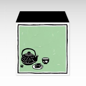 ちょっとひといき(ちょっと一息・お茶)/コイン(硬貨)用ぽち袋(小)5枚【和紙製】