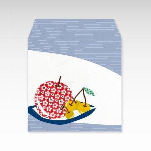 りんごとさくらんぼ(リンゴ・サクランボ・林檎)/コイン(硬貨)用ぽち袋(小)5枚【和紙製】