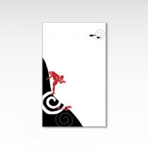 蛙とおたまじゃくし/メッセージカード 10枚入