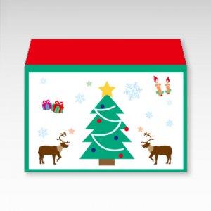 クリスマス/お札用ぽち袋(中)5枚【横型ぷち封筒】