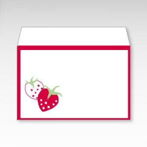 すとろべりー(ストロベリー・苺)/お札用ぽち袋(中)5枚【横型ぷち封筒】