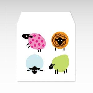 からふるひつじ(カラフル羊)/コイン(硬貨)用ぽち袋(小)5枚