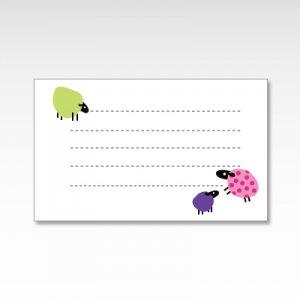 からふるひつじ(カラフル羊)/メッセージカード 10枚