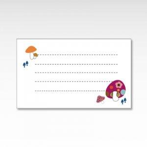 きのこのこのこ(キノコ・茸)/メッセージカード 10枚