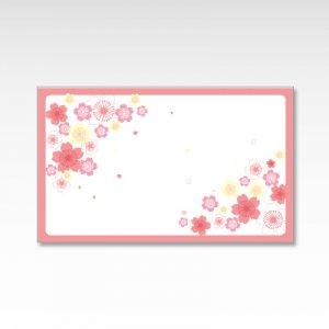 ふわふわ桜/メッセージカード 10枚