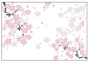 「桜吹雪」家庭用ランチョンマット/10枚〜