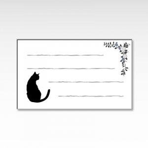 薔薇と黒猫/メッセージカード 10枚