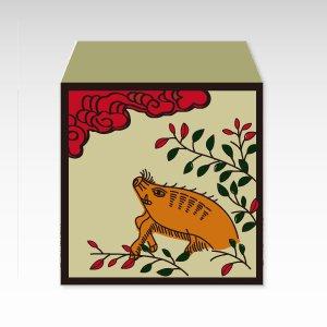 花札・萩に猪/コイン(硬貨)用ぽち袋(小)5枚『花札』