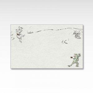 鳥獣食事戯画(鳥獣戯画)/メッセージカード 10枚