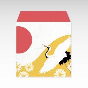 鶴/コイン(硬貨)用ぽち袋(小)5枚【和紙製】
