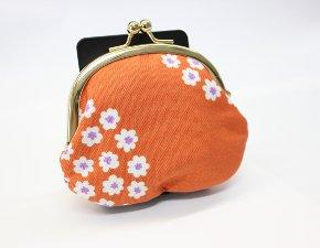 オレンジ/がま口(中)