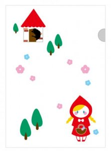 赤ずきんちゃん/ファイル(白色) 1枚