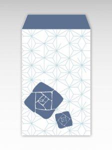 薔薇と麻/お札用ぽち袋(中)5枚【縦型】