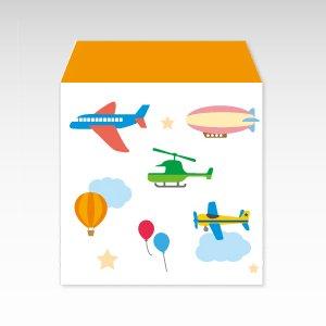 空の乗り物(飛行機・気球・ヘリコプター)/コイン(硬貨)用ぽち袋(小)5枚