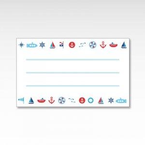 海の乗り物(船・潜水艦・ヨット)/メッセージカード 10枚