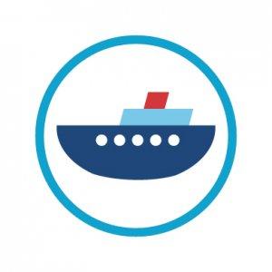 海の乗り物/シール5枚セット