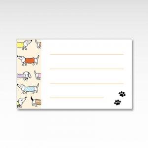 ダックスフンド(犬)/メッセージカード 10枚