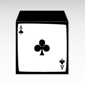 クラブのエース/コイン(硬貨)用ぽち袋(小)5枚『トランプ』